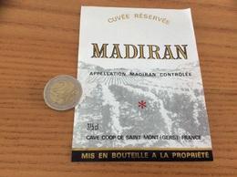 étiquette Vin «MADIRAN - CAVE COOP - SAINT-MONT (32)» - Madiran