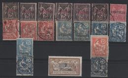 LEV 2 - LEVANT Lot De 19 Val. Obl. Avec Variétés De Teintes Et De Papiers - Levant (1885-1946)