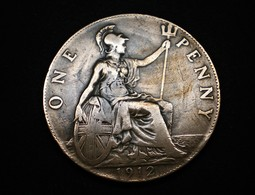 ONE PENNY GEORGES V GRANDE BRETAGNE 1912   (lot Sct N°59) - 1902-1971 : Monnaies Post-Victoriennes