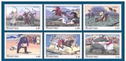 Tadschikistan 2002 MNH** Mi.Nr. 248-253 Traditional Sport - Tadschikistan