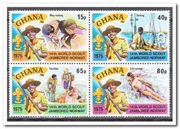 Ghana 1976, Postfris MNH, 14th. World Scout Jamboree Norway ( From Sheet ) - Ghana (1957-...)