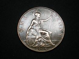 ONE PENNY EDOUARD VII  GRANDE BRETAGNE 1906   (lot Sct N°63) - 1902-1971 : Monnaies Post-Victoriennes