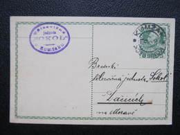 GANZSACHE Kumzak Königseck - Dacice Sokol 1913 Korrepospondenzkarte ///  D*36212 - 1850-1918 Imperium
