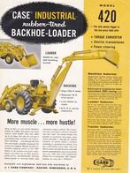 Prospectus Case Model 420 Texte En Anglais - Agriculture