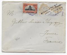 1919 - PANAMA - ENVELOPPE ARRIVEE En MAUVAIS ETAT (TIMBRES ARRACHES) ET AVISE Par Le POSTIER à VERGIGNY (YONNE) - Panama