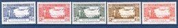 Nouveau AOF Mauritanie, 5 Timbres, Poste Aérienne Neufs, Gomme Parfaite - Mauritanie (1906-1944)