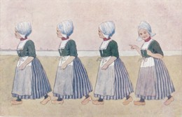 Brüder Kohn ENFANTS -  Carte Fantaisie Fillettes Hollandaises - B K W I 648-9 (lot Pat 42) - Künstlerkarten