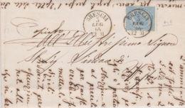 1864 EFFIGIE C.15 Tir De La Rue Su Lettera Completa Testo Brescia (2.7) - 1861-78 Vittorio Emanuele II