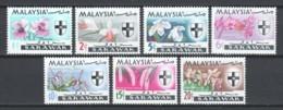 Malaysia Sarawak 1965 Mi 98-104 MNH FLOWERS ORCHIDS (A) - Malaysia (1964-...)
