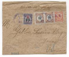1920 - PANAMA - BANDE RECOMMANDEE (CACHET MARITIME NEW YORK Au HAVRE Au DOS) => VERGIGNY (YONNE) - Panama