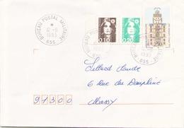 FRANCE ENVELOPPE DU 12 SEPTEMBRE 1993 DU BUREAU POSTAL MILITAIRE 655 POUR MASSY AU DOS DETAIR SARAJEVO - Military Postmarks From 1900 (out Of Wars Periods)