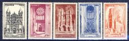 +B1556. France 1944. Cathédrales.Yvert 663-67. MNH(**) - France