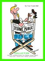 AFFICHES DE FILM - 5e FESTIVAL DE CINÉMA JEUNE PUBLIC DE LAON (20) EN 1987 - - Affiches Sur Carte