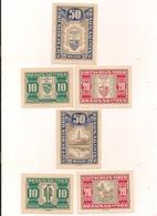 3 Notgeldscheine Baunau 10, 20 + 50 H - Kilowaar - Bankbiljetten