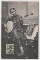 5804 Cochinchine Vietnam Girl With The National Musical Instrument Mail Stamp Indo - Chine - Vietnam