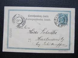 GANZSACHE Olsany Wolschan - Hartmanitz 1902 Korrepospondenzkarte ///  D*36215 - Briefe U. Dokumente