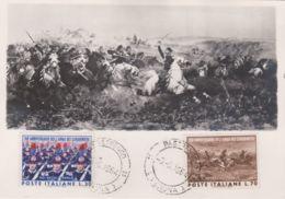 1964 ARMA Dei CARABINIERI Serie Completa FDC Su Cartolina Maximum - 1961-70: Storia Postale