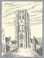 NL.- GOEDEREEDE. Toren Met Daarin Museum. Tekening Van A. Boogerman. - Schone Kunsten