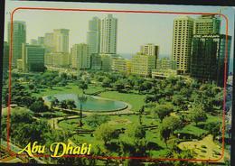 AK UAE View Of Abu Dhabi, The Capital. 1998 Nach Düsseldorf, Format 14,8 X 10,3 Cm, 2 Scans - Ver. Arab. Emirate