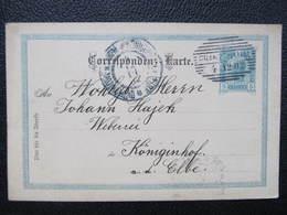GANZSACHE Franzenthal Frantiskov Nad Ploucnici - Königinhof 1902 Korrepospondenzkarte ///  D*36217 - Briefe U. Dokumente