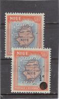 V4 - NIUE - 80 Et 92 De 1950 Et 1967 ** MNH - Cartographie - - Niue