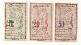3 Notgeldscheine Brunn A.d.Erl. 10, 20 + 50 H - (1) - Kilowaar - Bankbiljetten