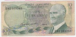 Turkey P 180 - 10 Lira 1966 - Fine+ - Turchia