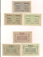 3 Notgeldscheine Blindenmarkt 10, 20 + 50 H - Coins & Banknotes