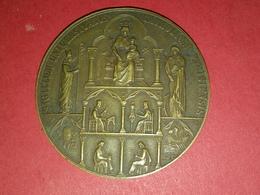 MÉDAILLE BRONZE SIGILLUM UNIVERSITATIS CATHOLICAE PARISIENSIS 1875 1925 Par A.J.C. 50 Mm POIDS 57 Gr. - Francia