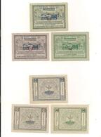 3 Notgeldscheine Bischofstetten 20, 40 + 80 H - Coins & Banknotes