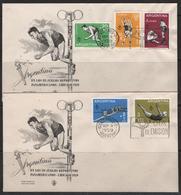1959: Juegos Deportivos Panamericanos On 2 FDC BB FF - Argentina