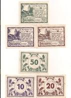 3 Notgeldscheine Christofen 10, 20 + 50 H - Mit Gemeindestempel - Coins & Banknotes