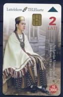 Folk Costume - Latvia Phonecard  New - Culture
