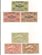 3 Notgeldscheine Ernsthofen 10, 20 + 50 H - Mezclas - Billetes