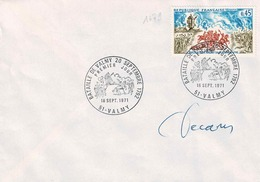 TP N° 1679 Sur Enveloppe 1er Jour Non Circulée Avec Signature De Decaris - Poststempel (Briefe)