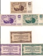 3 Notgeldscheine Erlauf Im Nibelungengau 10, 20 + 50 H - Kilowaar - Bankbiljetten