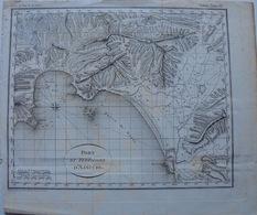 Ajaccio, Carte Géographique Du Port Et Territoire D'Ajaccio, 1793 - Cartes Géographiques