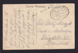 BELGIEN - 1915 - Bahnpost Brüssel-Gent-Ostende - Feldpostkarte - Occupation 1914-18