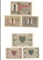 3 Notgeldscheine Enns 10, 20 + 50 H - Coins & Banknotes