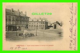ABBEVILLE (80) - PLACE SAINT-PIERRE ET STATUE DE LESUEUR - F. A. - CIRCULÉE EN 1902 = - Abbeville