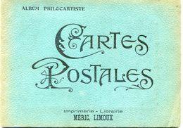 Petit Album Philocartiste -  Imprimerie Meric Limoux - 6 Pages 12 Cartes - Album Bijou - Vieux Papiers