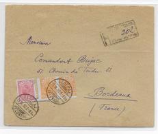 1898 - SERBIE - ENVELOPPE RECOMMANDEE De BELGRADE => BORDEAUX - Serbie