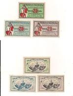 3 Notgeldscheine Eferding 20, 20 + 20 H - Coins & Banknotes