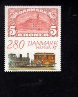 706498781 DENMARK POSTFRIS MINT NEVER HINGED POSTFRISCH EINWANDFREI  SCOTT 843 HAFNIA 87 MAIL TRAIN - Danemark