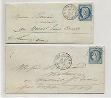 Lettre De NEAUPHLE LE CHATEAU Verso Ambulant GRANVILLE à PARIS ET PARIS à LAIGLE - 1849-1876: Période Classique