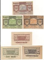 3 Notgeldscheine Ferschnitz 10, 20 + 50 H - Coins & Banknotes