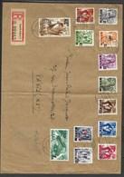SARRE, N° 16 à 28 Oblitéré Sur Lettre Grand Format, Pour Paris Le 30 /. 01 / 48 - Briefe U. Dokumente