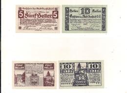 2 Notgeldscheine Freistadt 5 + 10 H - Coins & Banknotes
