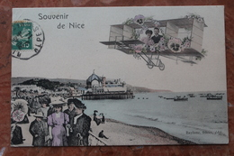 NICE (06) - SOUVENIR DE NICE - AVION - Autres