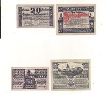 2 Notgeldscheine Freistadt 20 + 50 H - Coins & Banknotes